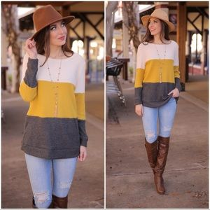 ✨LAST ONE✨Thermal Colorblock Tunic